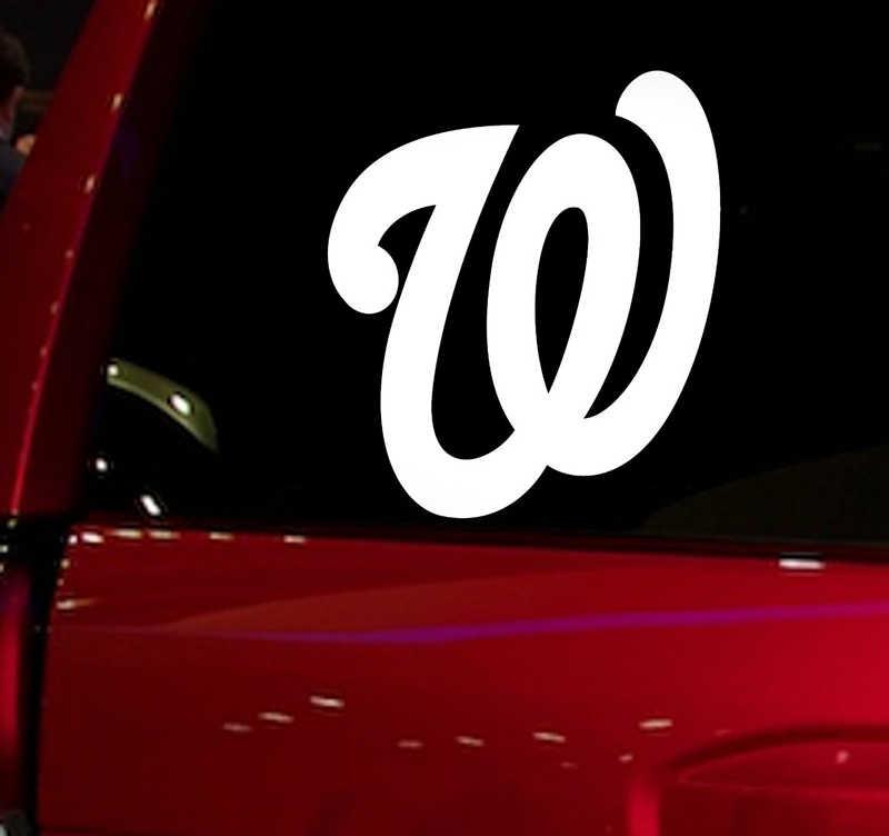 Национальные бейсбольные игры авто окна стикер наклейка для автомобиля грузовик внедорожник Наклейка 5,5 ''автомобильные для окон виниловые вырубная наклейка белый