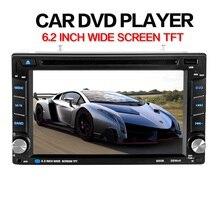 Uniwersalny Brand New 6.2 cal 2DIN w Dash Samochód Ekran Dotykowy Odtwarzacz CD DVD Radio Stereo Bluetooth Hands-free wbudowany mikrofon