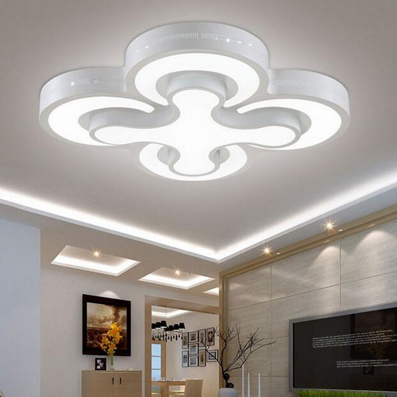 Modern led ceiling lights 48W bedroom lamps 4heads for livingroom kitchen lamp balcony ceiling light 90-260V lamp  Lamp R008 led kitchen lights balcony corridor ceiling lamps with the modern minimalist bathroom toilet waterproof panel lamp