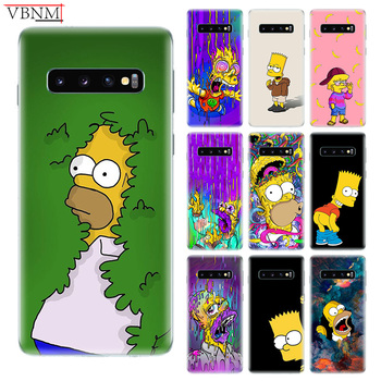 Yellow Homer J.Simpson Case For Samsung Galaxy S10 S6 S7 Edge S8 S9 Plus lite Note 8 9 M10 M20 M30 Gift Customized Cover Capa