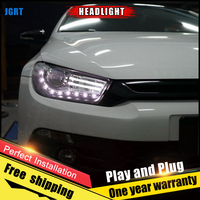 Car Style LED headlights for VW Scirocco 2011 2015 for Scirocco head lamp LED DRL Lens Double Beam H7 HID Xenon bi xenon lens