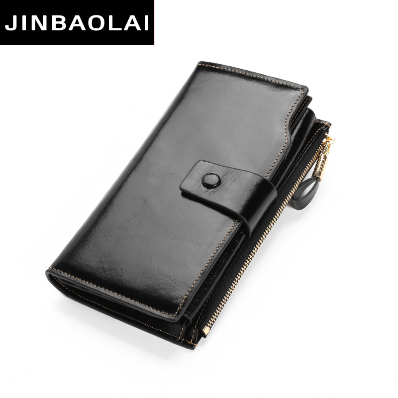 JINBAOLAI Fashion Women Wallets Design High Quality Genuine Leather Wallet Female Hasp Zipper Long Purses Card Holder Lady purse nawo real genuine leather women wallets brand designer high quality 2017 coin card holder zipper long lady wallet purse clutch
