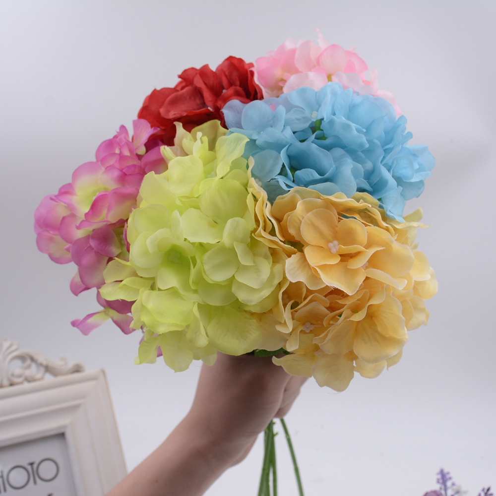 Wholesale 10pcs Silk Artificial Hydrangea Flower For Wedding