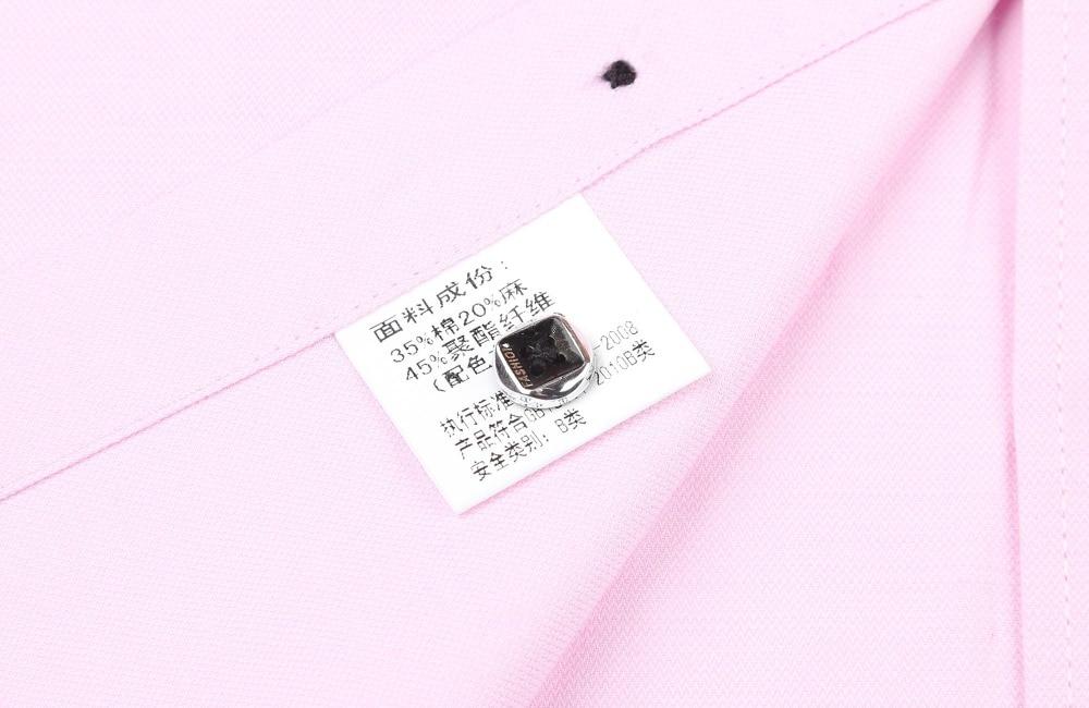 PaulJones D422x Kualiti Fesyen Korea Mens Linen Shirts Lengan Pendek - Pakaian lelaki - Foto 6