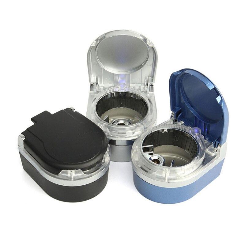 Portable Car Ashtray Led Lamp Smoke Ash Cylinder Holder Cigar Cigarette Ashtray Truck Auto Interiors Accessories CZ