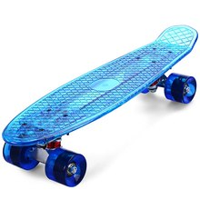 CL - 402 Transparent LED Skateboard With Several Changeable Lights 22 Inch Cruiser Longboard Complete Skateboard Ocean Style