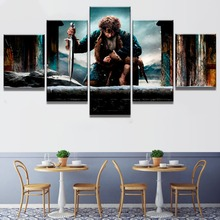 Lord of the Rings Hobbit Movie 5 Piece Home Decor Canvas HD Print Wall Art For Living Room Painting Wall Art Painting Canvas the art of the hobbit