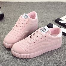 Women shoes 2019 new fashion comfortable leather sneakers women casual shoes lace-up platform shoes woman tenis feminino