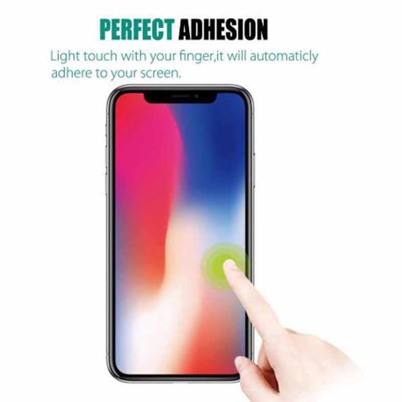Wangcangli 0.3 مللي متر واقي للشاشة من الزجاج المقسى لهاتف iPhone Xs Max X Xr S حافة ناعمة 2.5D غطاء زجاج واقي لهاتف iPhone Xsmax