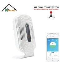 Poder USB sensor de temperatura e humidade HCHO TVOC CO2 WI-FI de conexão Inteligente para detector de qualidade do ar