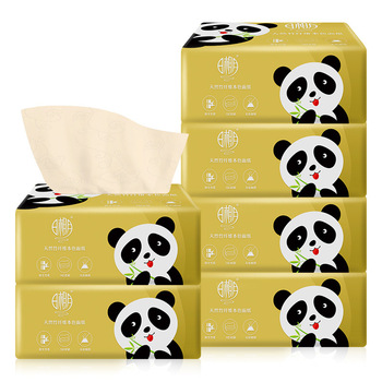 Panda Printed 3 Layers Tissue Paper 6 Packs Set Personal Hygiene Toilet & Tissue Papers