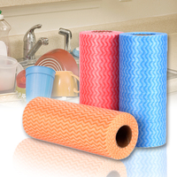 East Kitchen Disposable Striped Non Woven Fabrics Washing Dish Cleaning Cloth Towels Rags Wiping Souring Pad