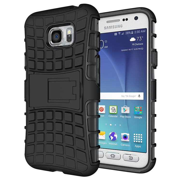 Hybrid TPU Armor Hard Case For Samsung Galaxy S7 Active SM-G891A Hard Case Impact Silicone Cover Stent Holder Case For S7 Active samsung