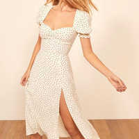 2019 Summer Vintage Party Dress Square Collar Ruffle Elegant Sexy Dress Female White Dot Printed Mid Dresses Vestidos