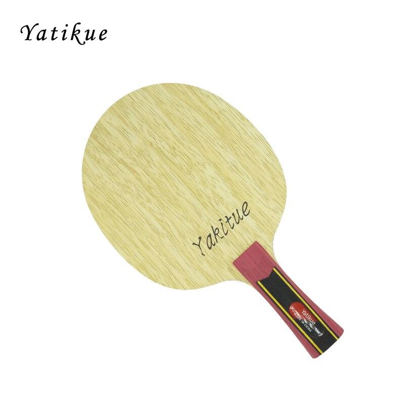 YATIKUE Professionnel Série Longue Poignée Pur Bois Ping-Pong Bat En Fiber De Carbone Tennis De Table Lame Raquette