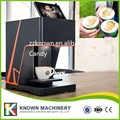 Otomatik selfie kahve fotoğraf süt yazıcı selfie kahve BASKI MAKİNESİ, renkli yenilebilir yazıcı mürekkebi, 3D kahve yazıcı