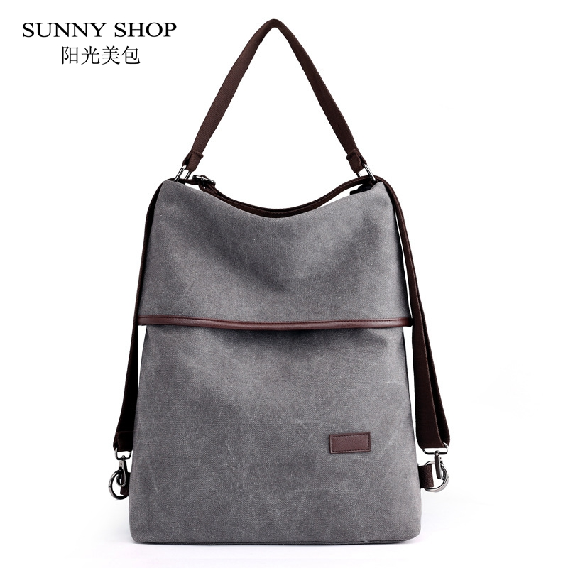 Vintage Canvas 15.6 Inch Laptop Backpack Women
