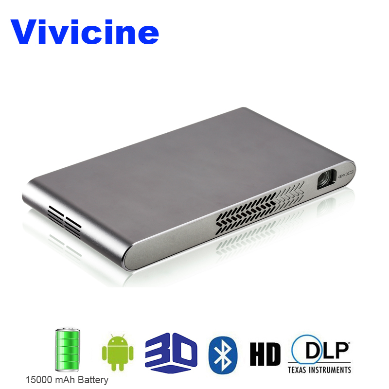 Vivicine Newest 3D 1080p Home Projector Android 4.4 Bluetooth Miracast Airplay Wireless HD Multimedia Video Proyector Beamer