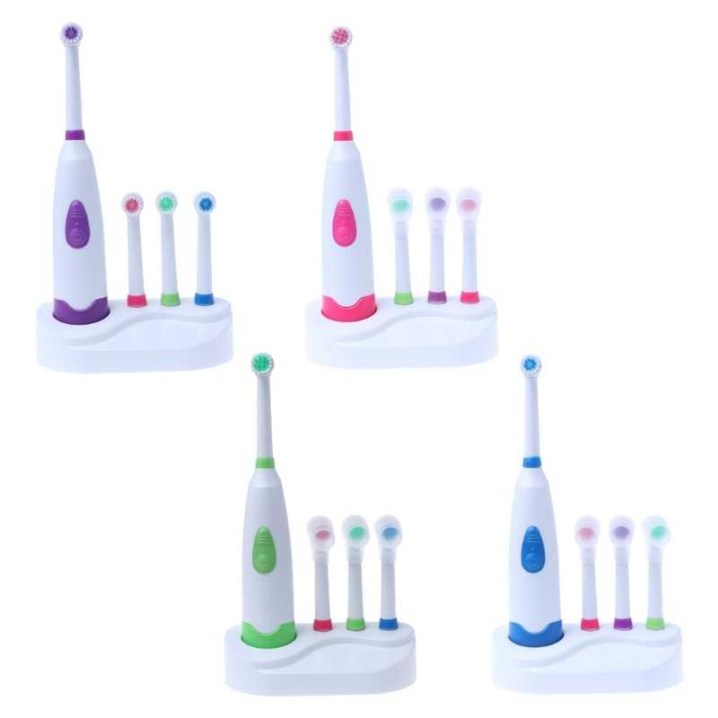 1 компл. Электрический Зубная щётка Батарея работает с 4 головка щетки гигиена