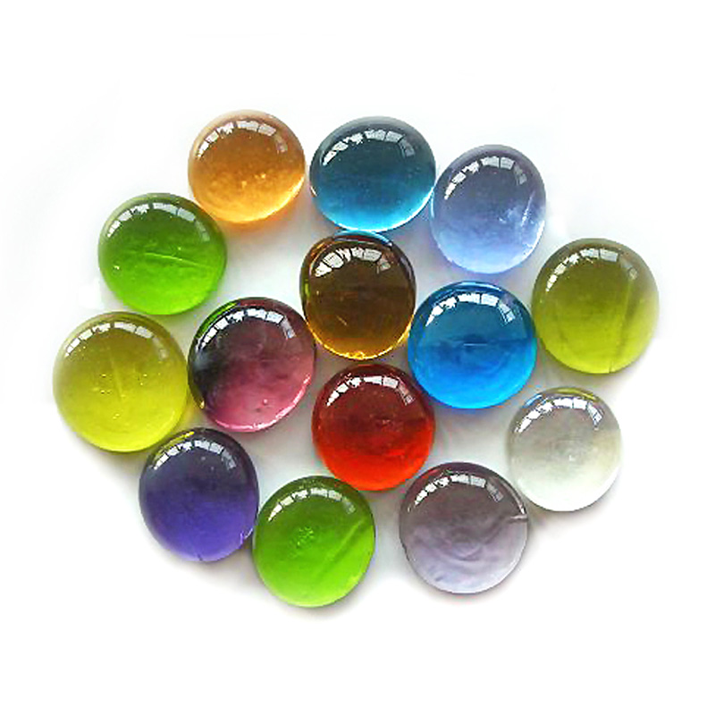 30 x MIXED Glass Pebbles Stones Gems Tiles Nuggets Pebble Marbles