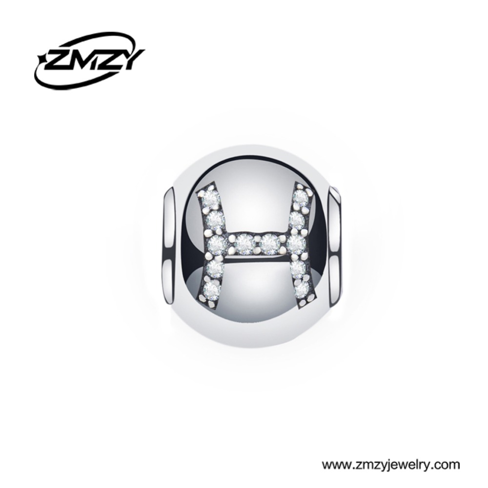 49a41cb39 ZMZY Jewelry Original Charm Beads Fit Pandora Bracelet 925 Sterling Silver  Pisces Designs With Clear CZ DIY Jewelry