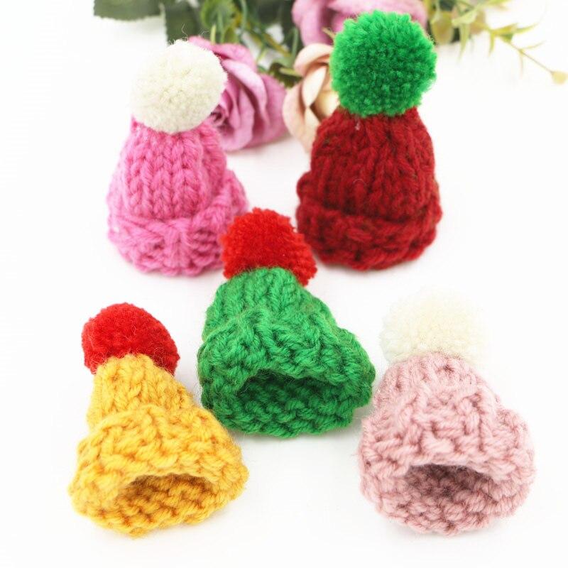 Ручной тканые крючком зимняя шапка Craft с круглым шерсть шары Декор Fit Обувь для девочек Украшения для волос одежды Обувь сумки oranment Декор