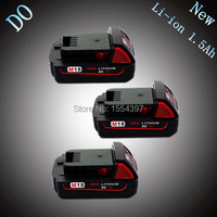 3pcs 18V Lithium Ion 1500mAh Replacement Rechargeable Power Tool Battery For Milwaukee M18 XC 48 11