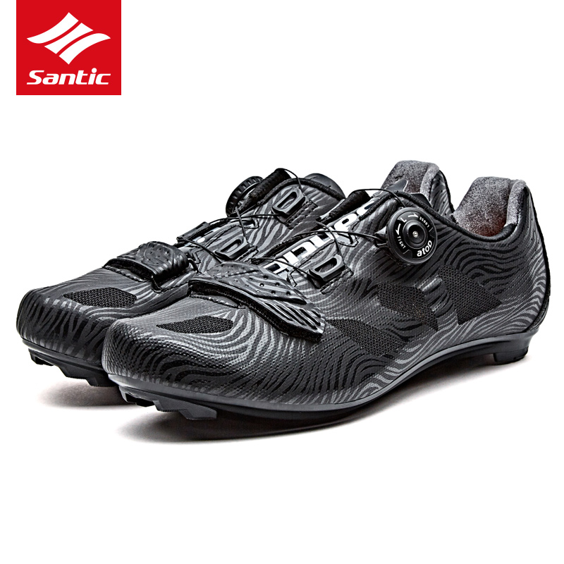 Santic Pro Cycling Shoes 2019 Men Racing Road Bike Shoes TPU Breathable Athletic Self locking Bicycle