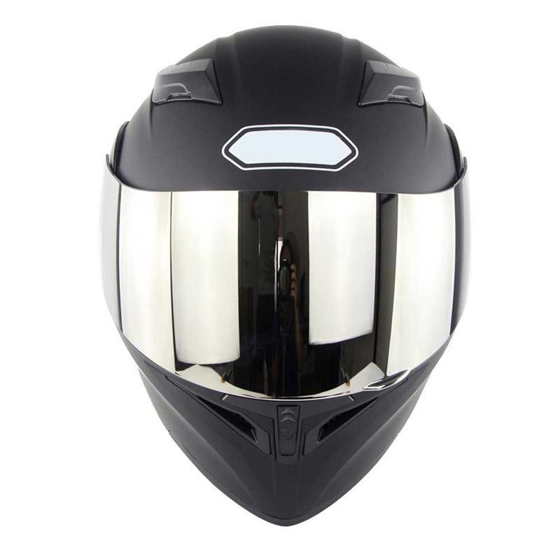 S/ M/L/ XL/XXL Elegant Black Double Lens Motorcycle Full Face Helmet Electric Car Section Helmet Standard Quick Buckle