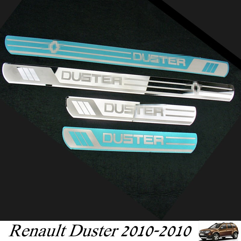 Renault Duster 2010-2019 Car Door Sill Scuff Plates Stainless Steel Door Sill Trim Cover for Duster
