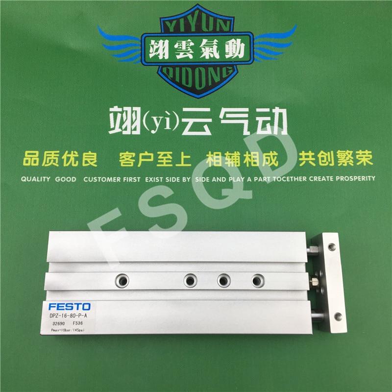 DPZ-16-10-P-A DPZ-16-40-P-A DPZ-16-50-P-A DPZ-16-80-P-A FESTO Double rod cylinder pneumatic component air tools DPZ series dpz 10 10 p a gf festo double rod piston cylinder