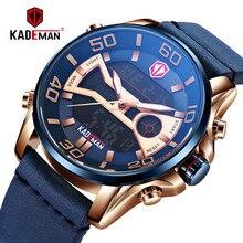 KADEMAN 2019 New Men Watch Luxury TOP Brand Military Sport Watch Waterproof Dual Display Wristwatch Male Clock Relogio Masculino