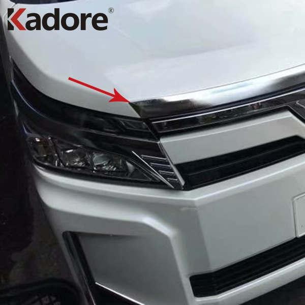 For Toyota Voxy Noah R80 2017 2018 2019 ABS Chrome Front Grille Trims Grills Frames Decoration