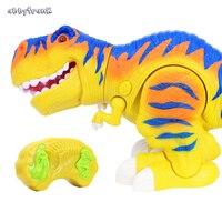 Abbyfrank Nieuwe 40 CM RC Dinosaurus Speelgoed Leuke Elektrische Infrarood Dieren Model Rex Verlichting Geluid Actieve Flexibele Speelgoed Voor Kinderen