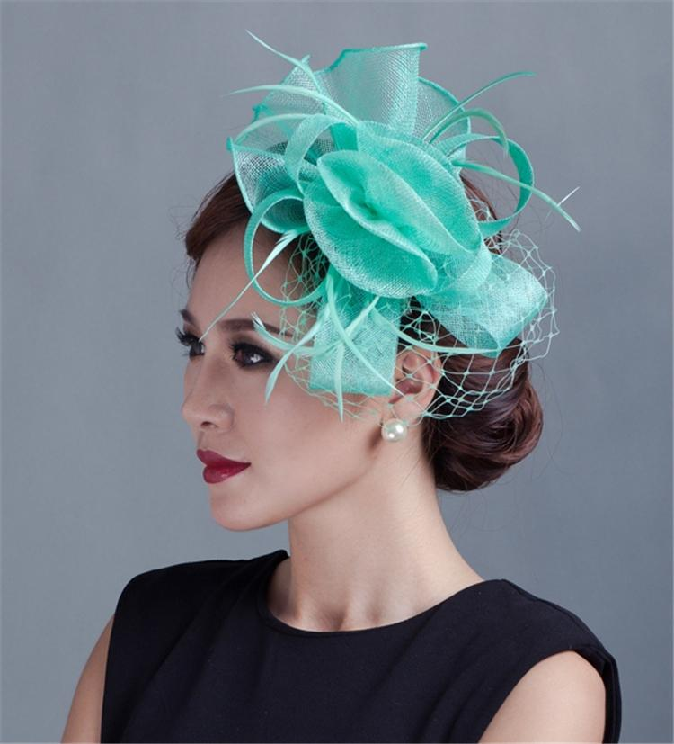 8ebdcd5e97b Brand New Sinamay Hat Fascinator Feather Flower Hair Clip Wedding Hats And Fascinators  Bridal Hair Accessories Chapeu Casamento-in Fedoras from Apparel ...