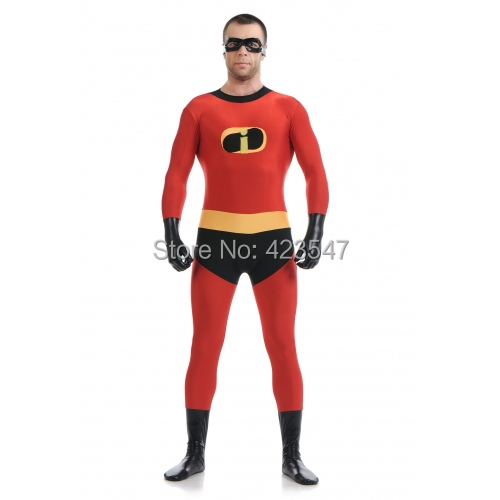 Red and black Factory Direct Wholesale Price Mr Incredible Costume Halloween Cosplay Party Prom Zentai Suit