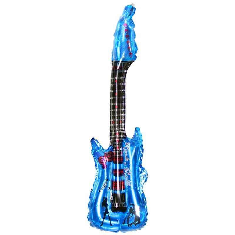 85*30 cm מתנפח לפוצץ גיטרה בלוני צעצוע כלי נגינה לילדים לשחק צעצוע אבזרי מסיבת בלוני אבזרים NSV775