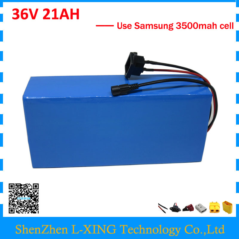 Free customs fee 36 V lithium battery 21AH 1000W 36V 21AH ebike battery scooter use Samsung 3500mah cell 30A BMS 2A Charger free customs fee 24v 20ah lithium ion battery pack 24 v 20ah battery use 2500mah 18650 cell 30a bms with 3a charger