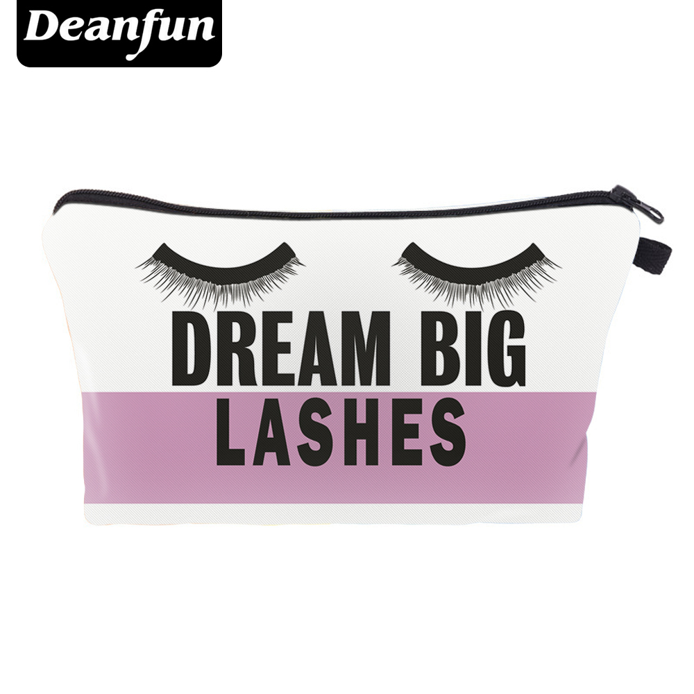 Deanfun 3D Printed Cosmetic Bags Dream Eyelash Zipper Women Necessaries For Women Make Up Travel  New Fashion 41151