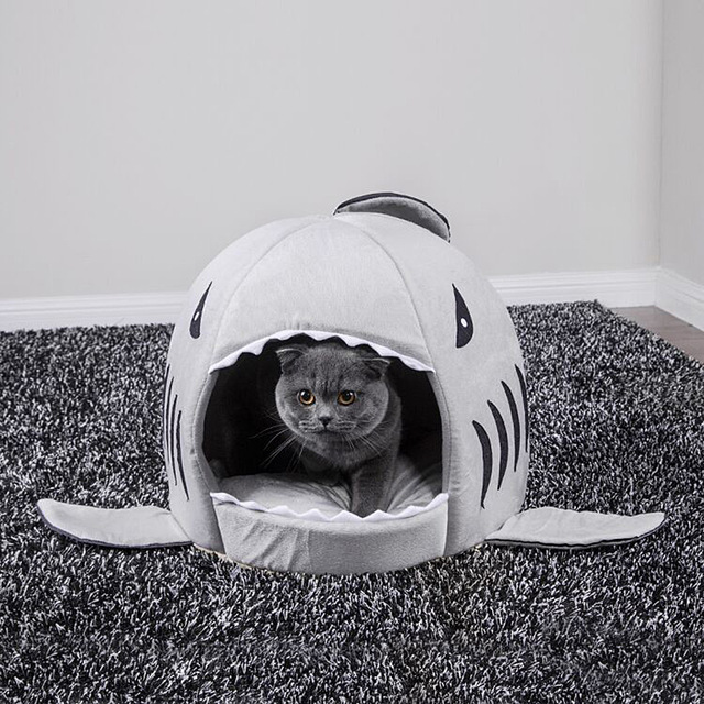 Кошка акула кровать Дом Сладкая корзина собака игрушки хомяк клетка пещера аксессуары для животных принадлежности