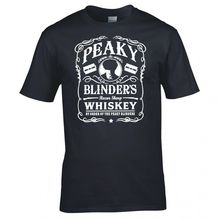 PEAKY BLINDERS INSPIRED WHISKEY LOGO T SHIRT Print Shirt Mens Short Sleeve Hot