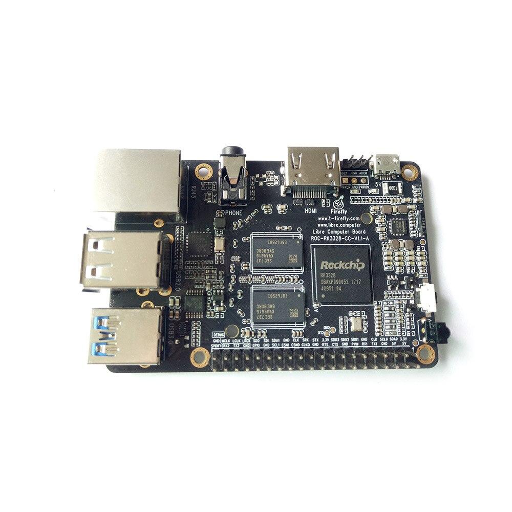 Vagalume ROC RK3328 CC Apoio Gigabit Ethernet, USB 3.0, 4 k display & Cortex-A53 Ubuntu & Android BRAÇO Placa de Desenvolvimento BRAÇO