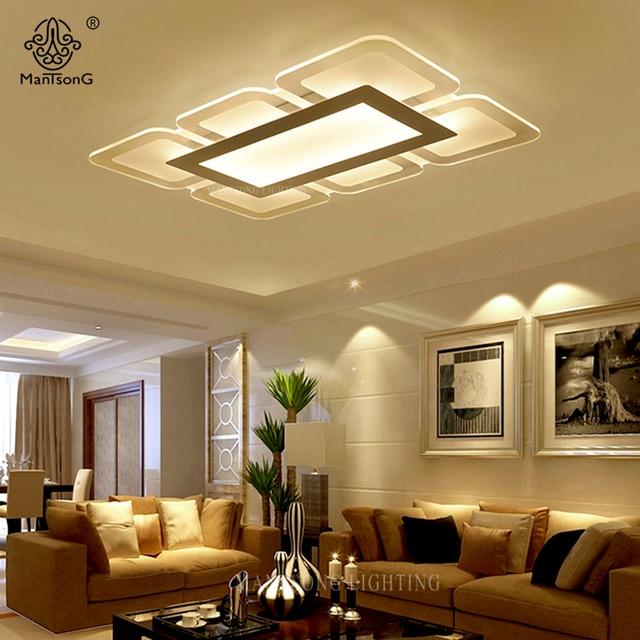 Candeeiros De Tecto Modernos Acrílico Branco Simples LED