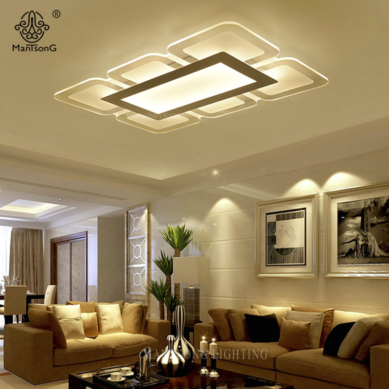 مصابيح السقف الحديثة الابيض الاكريليك بسيطة أضواء led
