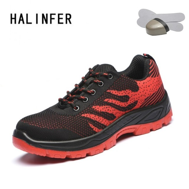 f18c6517 HALINFER 2018 new Free shipping men steel toe cap work safety shoes  breathable boots fashion footwear protection shoes-in Work & Safety Boots  from ...
