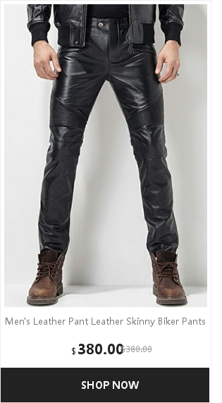 Men's Leather Pant Biker Pants Motorcycle Punk Rock Pants Tight Gothic Leather Pants  Slick Smooth Shiny Trousers Sexiest TJ01 14