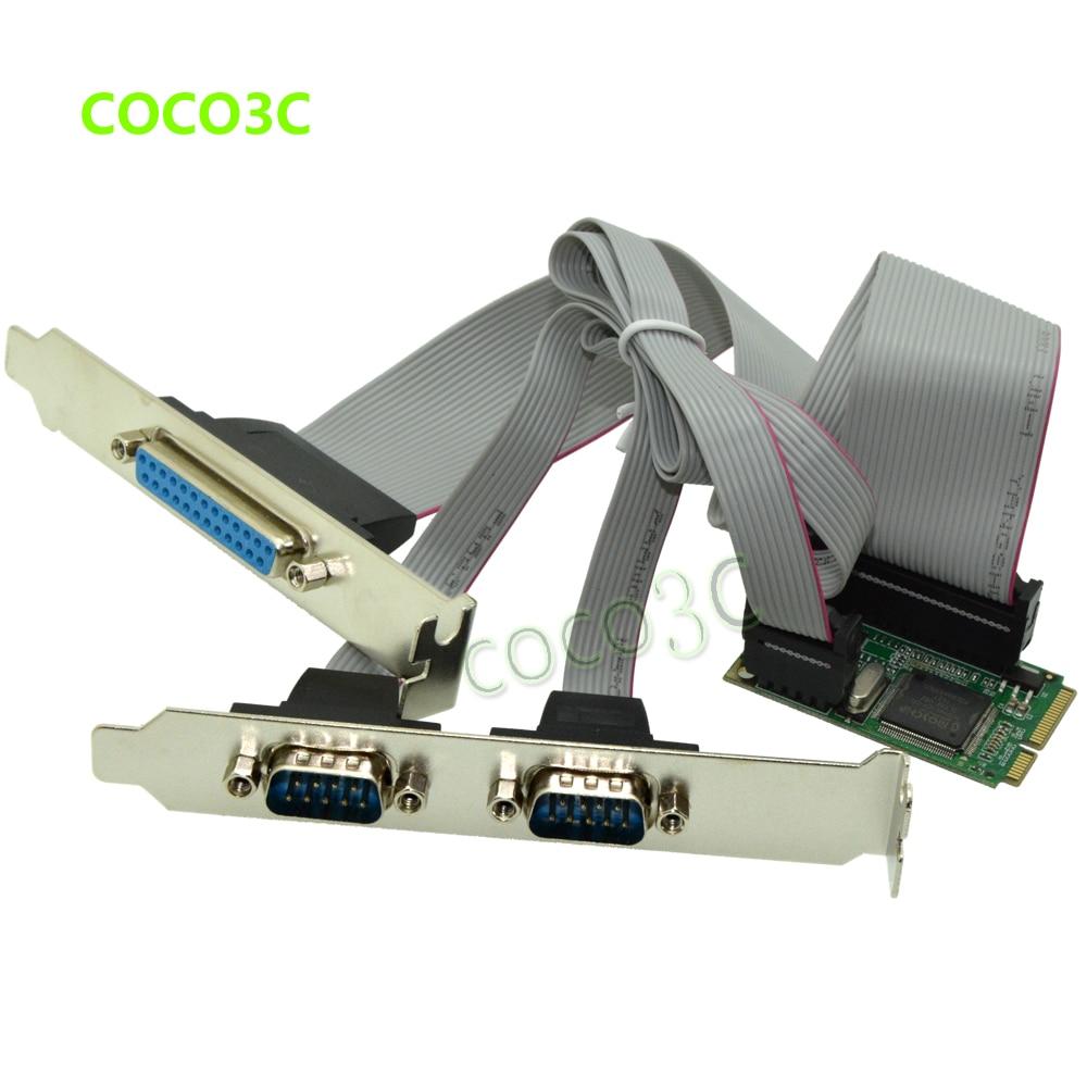 Combo 2 Последовательный+ 1 параллельный IEEE 1284 мини PCIe контроллер карты для mini ITX mpcie в RS232 com порт+ принтер LPT порт адаптер