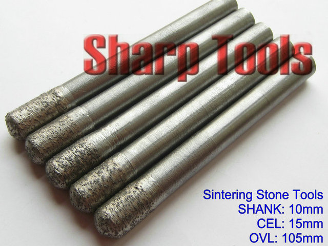 ball nose end mill. new sharp tool- 10*10*15mm sintered diamond ball nose end mill cutters t