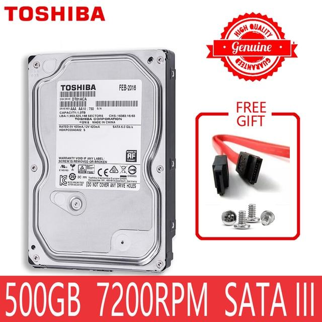 """TOSHIBA 500 GB Ổ Cứng Bên Trong Đĩa Harddisk HDD HD 500 GB 500G SATA III 3.5 """"7200 RPM 32 M Cache cho Máy Tính"""