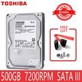 Внутренний жесткий диск TOSHIBA, жесткий диск 500 ГБ, винчестер 500 ГБ, 500 Г SATA III 3,5